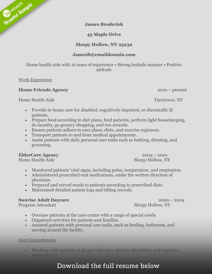 Nursing Home Aide Resume - Vision professional