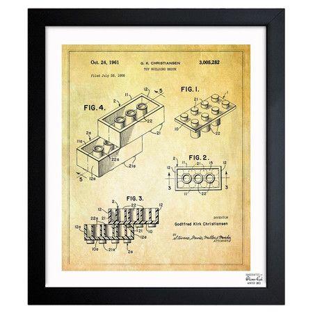 LEGO printHandsome Prints, Olive Gal, Toys Buildings, 1961 Frames, Lego Toys, Frames Prints, Art Prints, Buildings Bricks, Bricks 1961