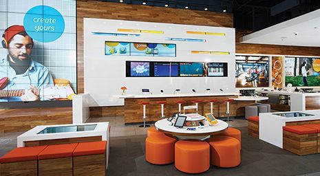 How Brands are Digitizing Retail and Creating the Stores of the Future - Last fall, AT opened a highly stylized retail store that looks more like a modern museum than a phone store. The sleek space is filled with state-of-the-art digital gadgets and gizmos, along with interactive games and an iPad-toting staff. Many credit Apple as the true pioneer of this revolution in retail where brick-and-mortar stores are wowing consumers with a high-tech, highly immersive shopping experience. #Retail