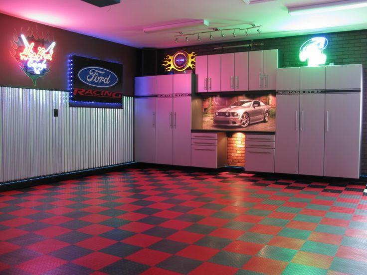 65 best images about garage on pinterest for Custom garage workshop