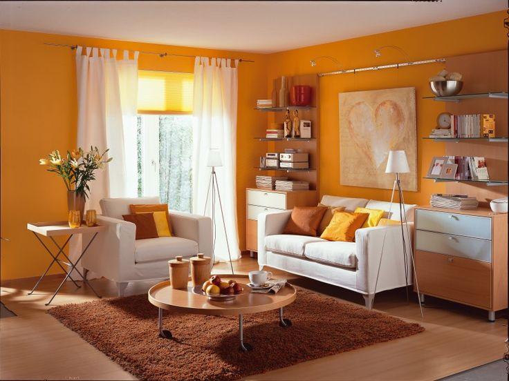 Wohnzimmer farbe orange  wohnzimmer orange streichen | hwsc.us. best wohnzimmer schwarz ...