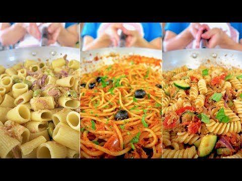 3 IDEE per PASTA CON TONNO - Ricetta Facile in 3 versioni - 3 Easy Tuna and Pasta Recipe - YouTube