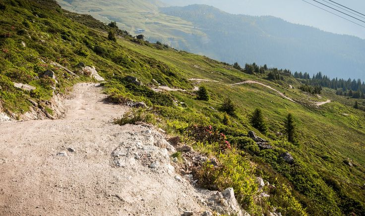 Never End Trail, Crap Sion Gion to Laax, Zwitserland