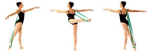 Ballet band for stretching Dancer: Miami City Ballet Principal Dancer Jennifer Carlynn-Kronenberg