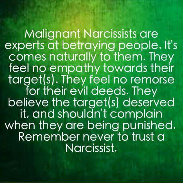 Malignant Narcissists