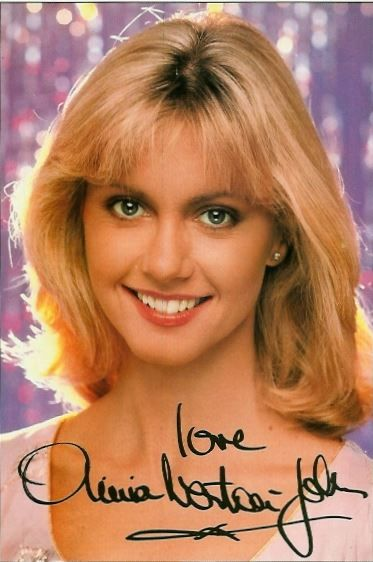 1978: Olivia Newton-John - Autogrammkarte