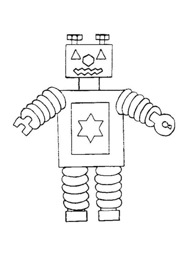 robot vierkant - Google zoeken | Kids printable coloring ...