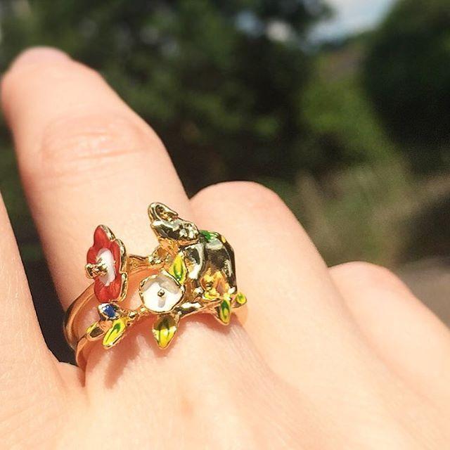 :: The Elephant Stacking Rings ::   .  .  .  #BillSkinner #elephants #jewelrydesigner #jewellerylovers #stackingrings #handpainted #enamel #festival #festivalstyle #elephantjewelry #elephantjewellery #ss17 #ss17collection