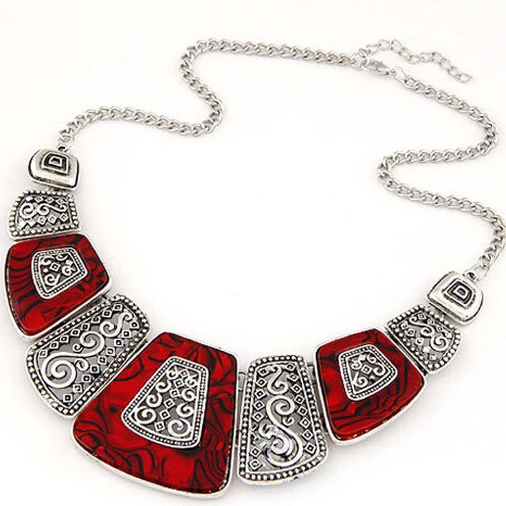 2017 nieuwe bohemen choker ketting mode etnische collares vintage verzilverd bead hanger statement ketting voor vrouwen sieraden