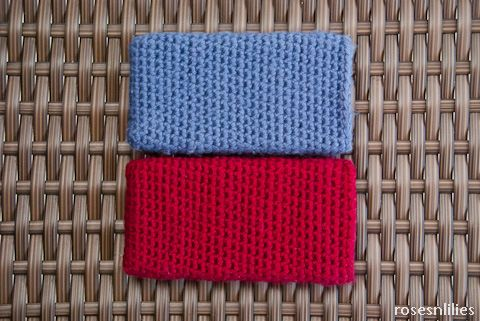 Free Crochet iPhone Sleeve Pattern - Red and Blue