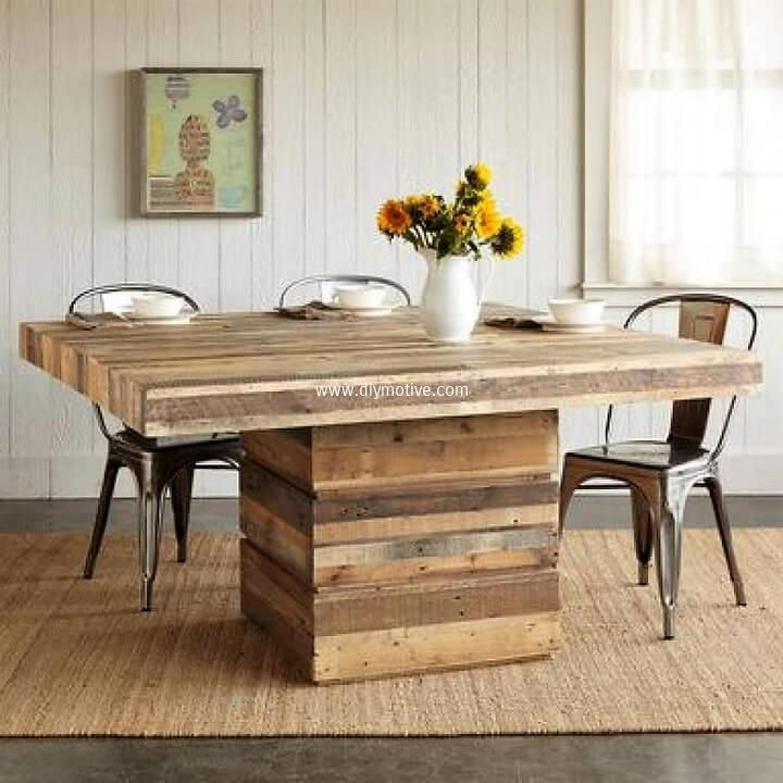Easy To Follow Pallets Wood Recycling Ideas Square Dining Tables