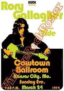 Cod. 177  Rory GALLAGHER  Tide  Cowtown Ballroom  Kansas City  (Missouri) Usa  24 March 1974