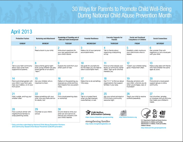 its child abuse prevention month here are 30 ways parents can promote child well