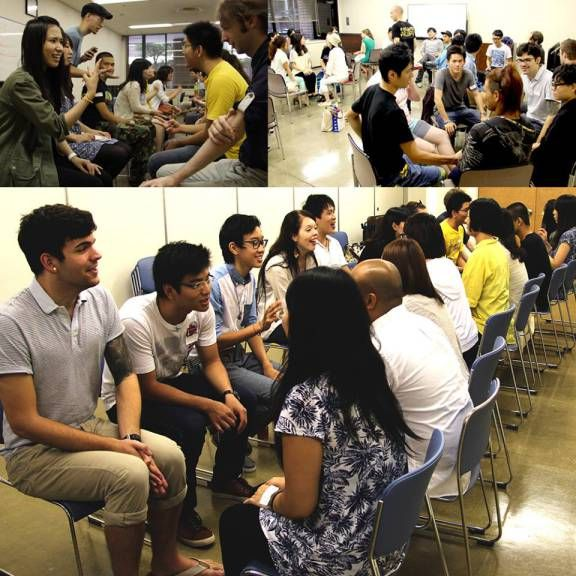 Language exchange before church is a fun and relaxed place to meet people from all over the world and skill up in english and Japanese