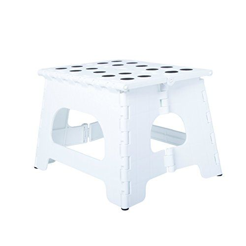 Range Kleen Ss1w Single Step White Folding Stool 9 Inches Tall Unfolded Step Stool Stools For Sale Stool