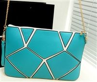 Modern cutout envelope clutch in blue from lovemisseve.com