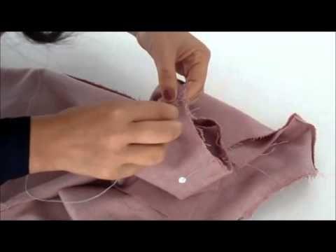 7. Colocar mangas en el cuerpo. Vestido TRAPECIO