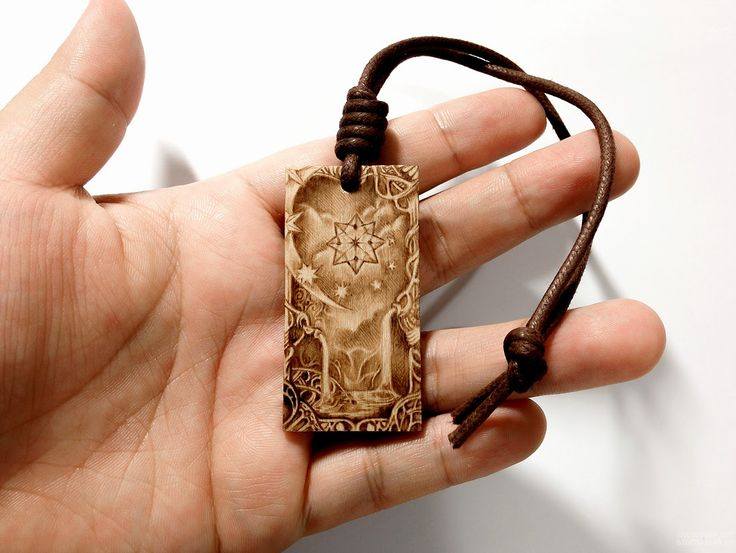 Wooden pendant pyrography, wood burning.