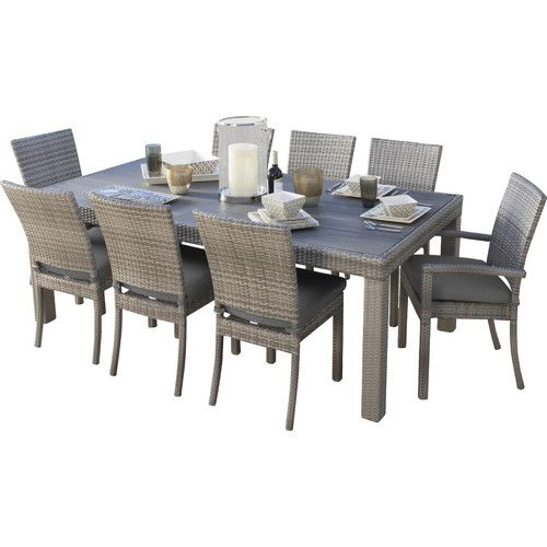 Found it at Wayfair - Highland Park 9 Piece Dining Set with Cushions