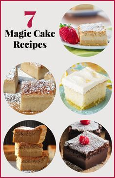 """7 Magic Cake Recipes - Magic cake is a fairly simple batter that """"magically"""" separates into three layers. Check out these 7 magic cake recipes!"""