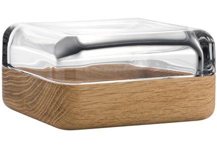 Iittala - Iittala Vitriini -rasia 108 x 108 mm, kirkas/tammi