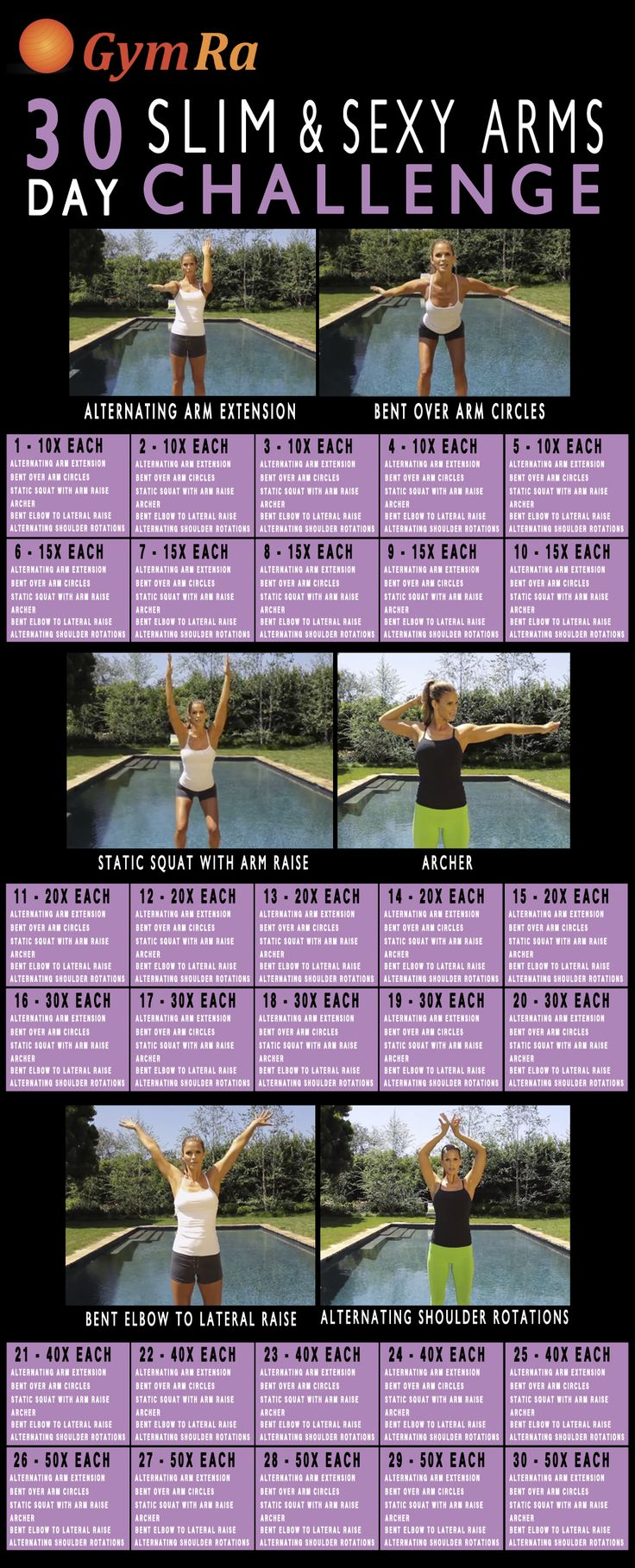 30 days to sculpted arms. Slim down and show off those sexy arms! #fitfam #fit4life #fitness #weightloss