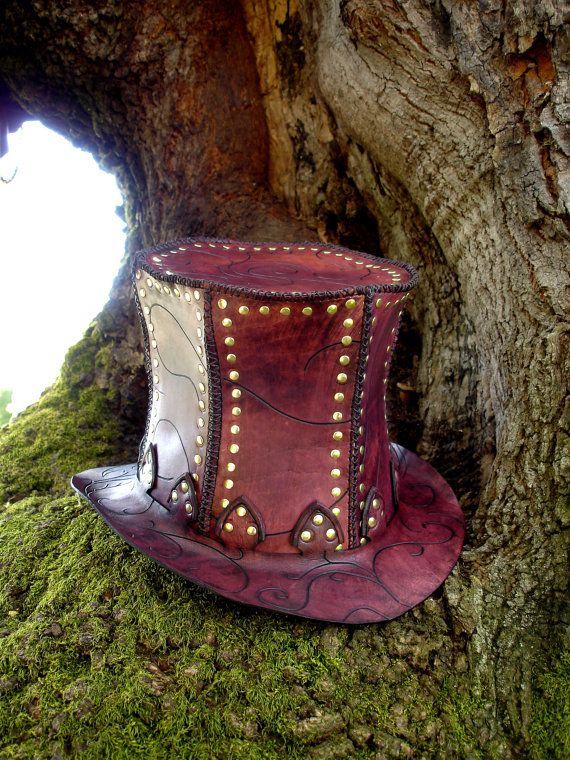 Leather Circus Top Hat