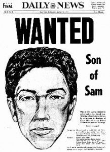Daily News Front page dated August 10, 1977: Headline : WANTED Son of Sam