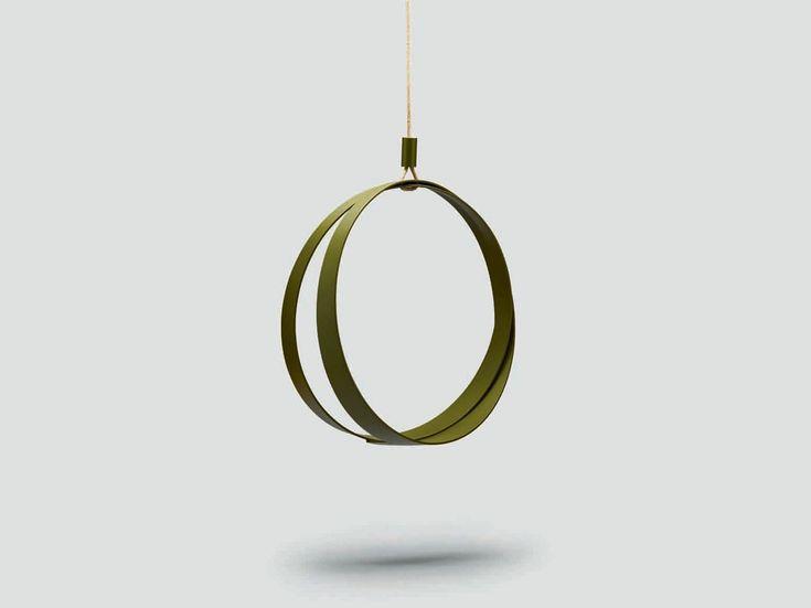 Metal garden hanging chair RING-O by da a design Saverio Incombenti