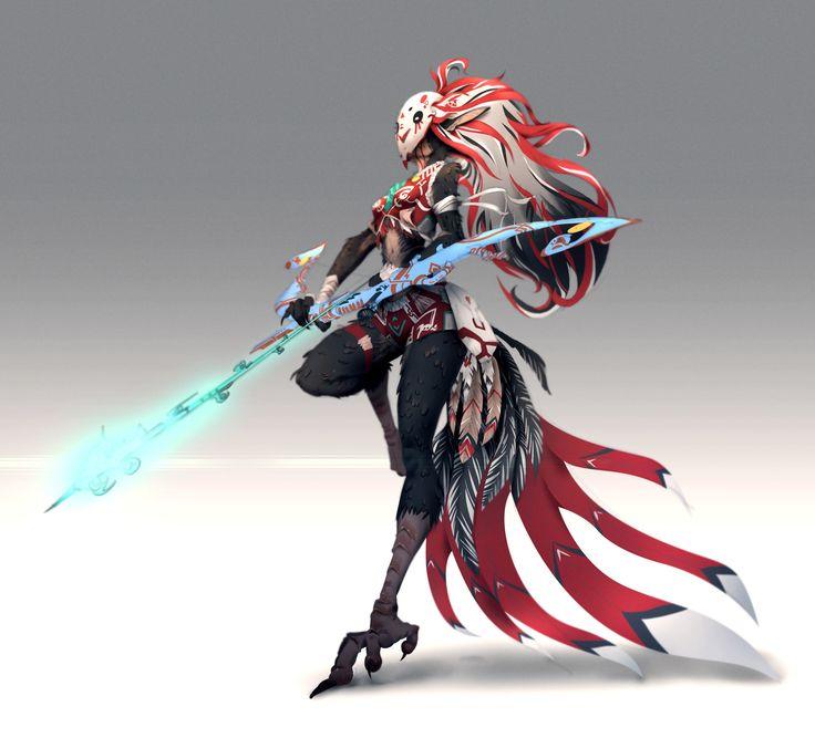 Xayah Character Design : Best concept art creatures images on pinterest