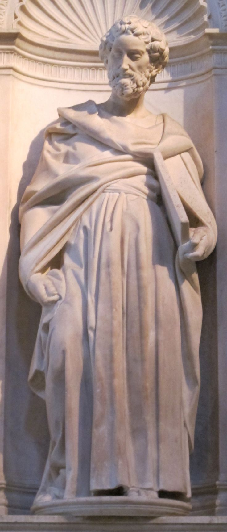 Statue of Saint Peter 1503–1504 by Michelangelo in the Cathedral of Siena