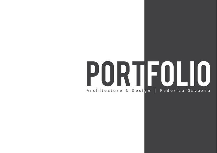 Design portfolio Federica Gavazza