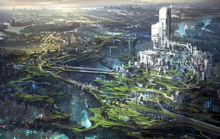Feng Zhu Design: Sci-Fi City via PinCG.com