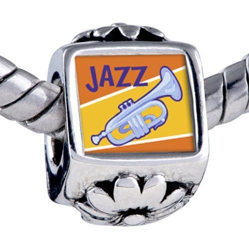 Pugster Silver Plated Photo Bead Music Jazz Instrument Photo Flower European Charm Beads Fits Pandora Bracelet Pugster. $12.49. Hole size is approximately 4.8 to 5mm. It's the photo on the flower charm. Bracelet sold separately. Unthreaded European story bracelet design. Fit Pandora, Biagi, and Chamilia Charm Bead Bracelets