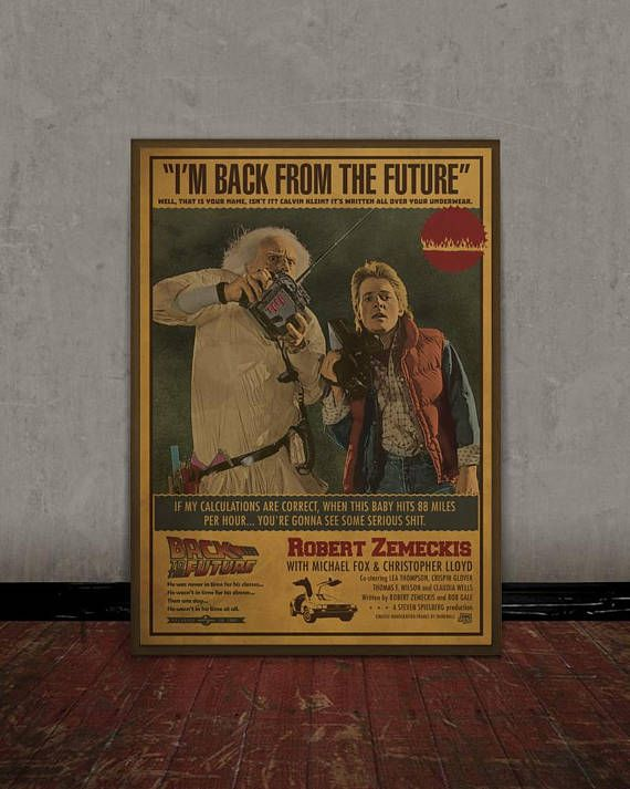 Back to the future Robert Zemeckis Colored retro classic