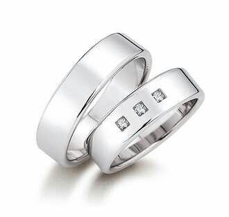 Wedding ring in 18k white gold
