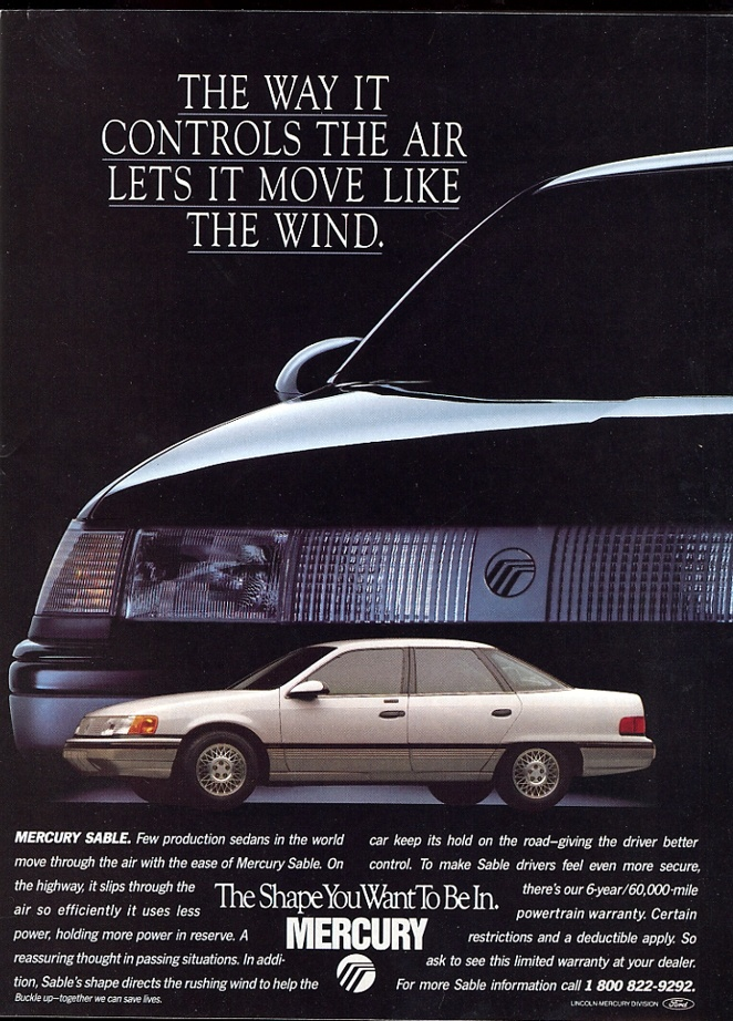 Mercury Sable ad.