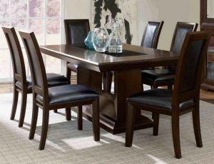 Set Meja Makan Jati Minimalis | Alfah Furniture