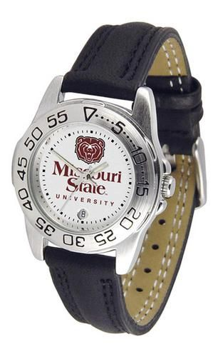 Missouri State Bears Women's Leather Band Athletic Watch