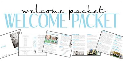 welcome packet welcome packets pinterest welcome. Black Bedroom Furniture Sets. Home Design Ideas