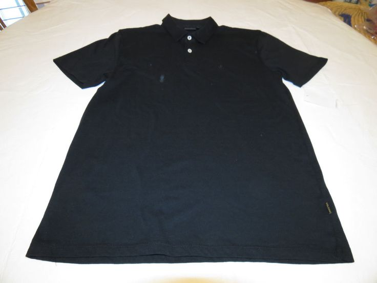 Men 39 s volcom polo shirt surf skate black new nwt m medeium for Work polo shirts with logo