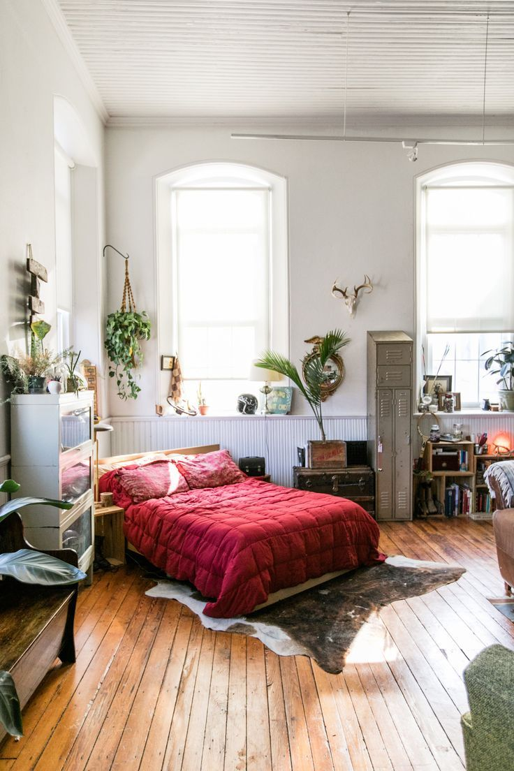 this vintage filled studio apartment used to be a church home rh pinterest com