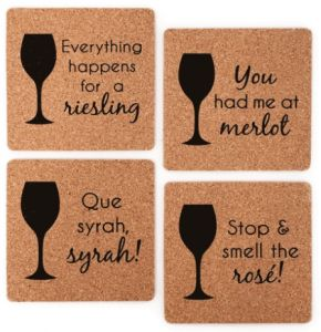 Wine Pun Coasters