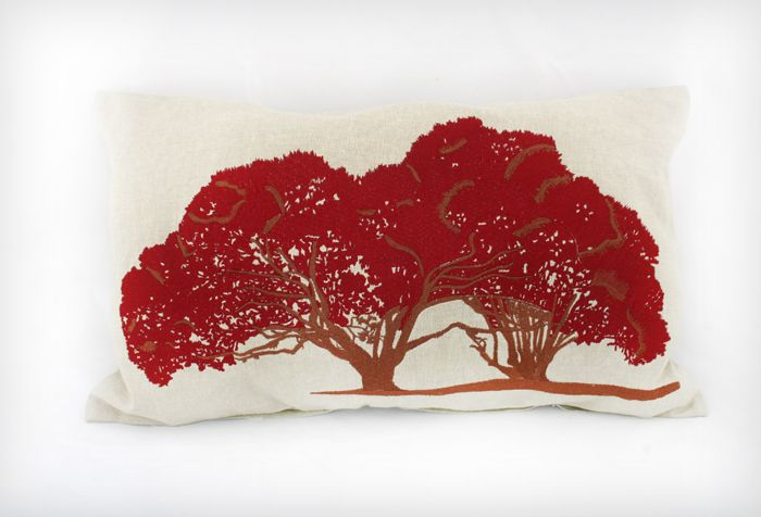 Pohutukawa cushion from www.carolinemitchell.com