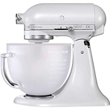 KITCHEN AID Limited Edition Artisan mixer frosted pearl glass bowl
