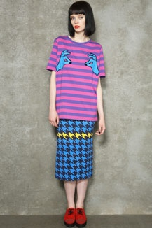 House Of Holland Striped Pinch Tee