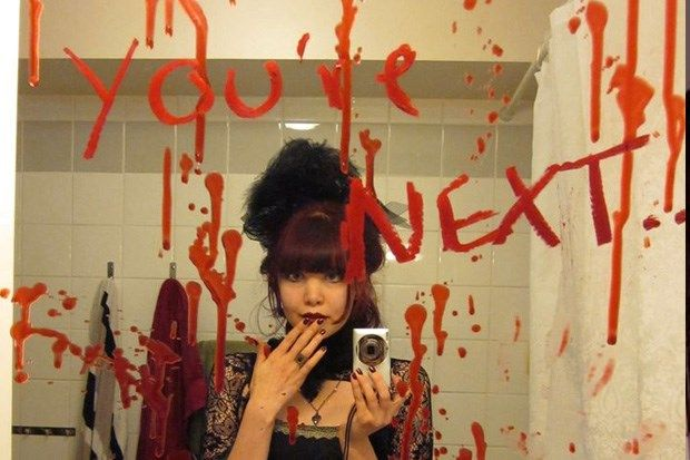 Turn your bathroom into a horror scene with some red paint or tomato sauce - and a cheap red lipstick makes it perfect for mirror writing.