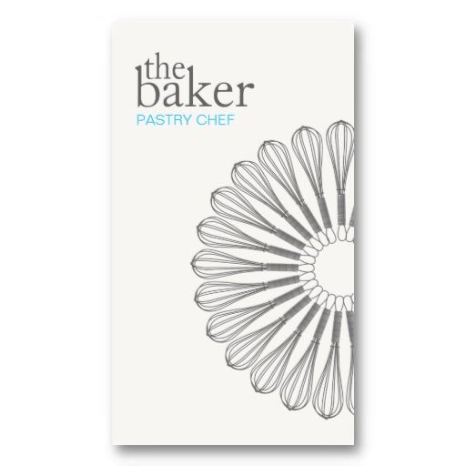 Pastry Chef Baking Whisk Modern Simple Business Cards