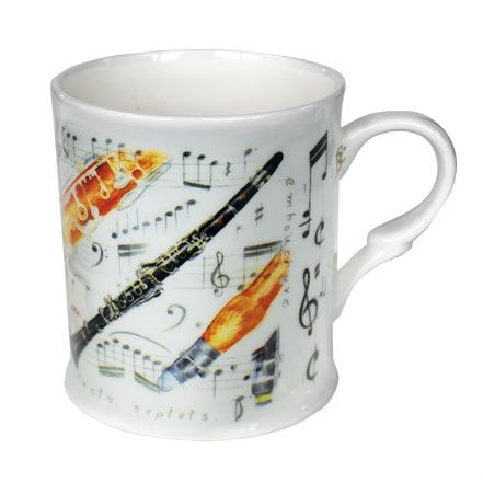 Bone China Mug: Clarinet. £8.99