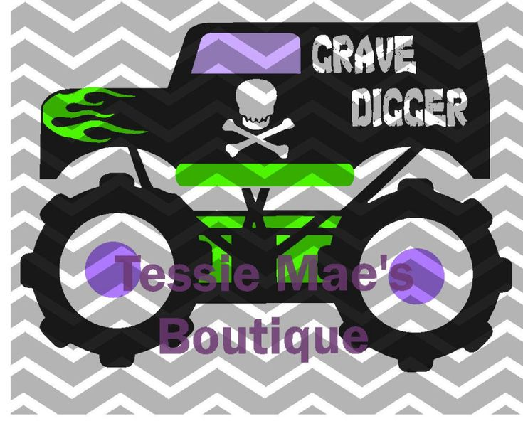 Monster Truck Grave Digger Inspired Digital Design By